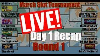•ROUND#1 • DAY 1 LIVE RECAP  • #MarchMadness2018 #Slots •