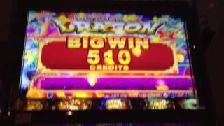 Ultra Stack Dragon - Aruze Slot Machine Bonus Win and Line Hit