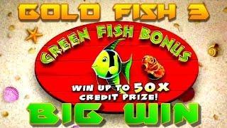 GoldFish 3 Slot Machine - Green Fish Bonus - Big Win