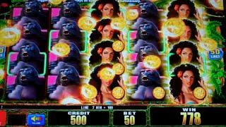 Ultra Stack Beauty in the Wild Slot Machine Bonus + BIG Line Hit - Free Games Win w/ 2x Multiplier