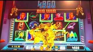 """LIVE PLAY / """"STAR TREK"""" Slot Machine w/ Bonus"""