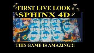 **NEW** SPHINX 4D SLOT MACHINE - FIRST LIVE LOOK w/ALL BONUSES + BIG WINS!!
