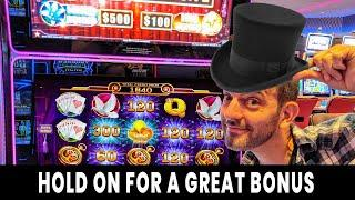 • HOLD ON For a GREAT BONUS! • Progressive WINS on Hold Onto Your Hat @ Hard Rock Atlantic City •#ad