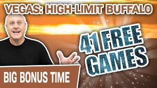 ⋆ Slots ⋆ 41 FREE GAMES & 2 JACKPOTS ⋆ Slots ⋆ High-Limit BUFFALO Slots at Cosmopolitan Las Vegas