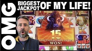 I JUST HIT THE BIGGEST JACKPOT of MY LIFE! •BUFFALO XTREME SLOT MACHINE @ San Manuel Casino!