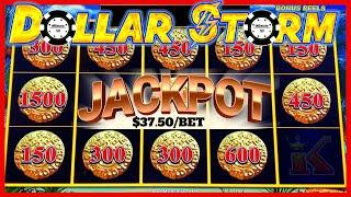 •️HIGH LIMIT Dollar Storm Caribbean Gold HANDPAY JACKPOT •️$37 SPIN BONUS ROUND Slot Machine Casino