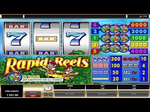 Free Rapid Reels slot machine by Microgaming gameplay ★ SlotsUp