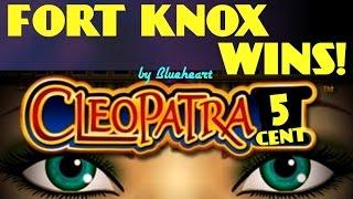 CLEOPATRA slot machine LIVE PLAY BONUS WINS with FORT KNOX JACKPOT PICKS!