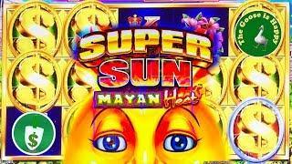 • •  Super Sun Mayan Heat slot machine, Nice Win