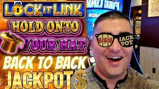 ⋆ Slots ⋆Super RARE Back To Back HANDPAY JACKPOTS On High Limit Hold Onto Your Hat Slot Machine |SE-