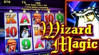 WIZARD MAGIC BONUSES + Quick Hit Fever !!! 5c Aristocrat & Bally Video Slots