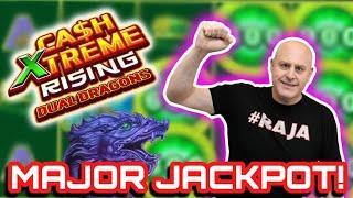 ⋆ Slots ⋆ Double Jackpots - Cash Extreme Rising Dual Dragon ⋆ Slots ⋆ $60 Bet Hits Maxi, Major & Minor all at Once!