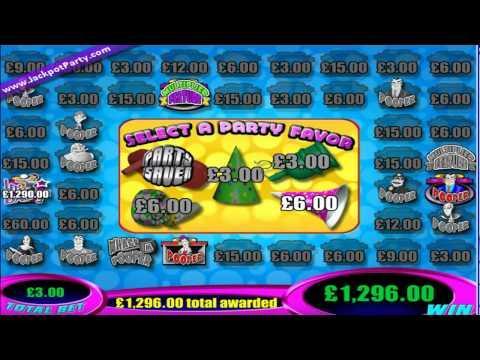 £1296 MEGA BIG WIN (432 X STAKE) Super Jackpot Party™ - JACKPOT PARTY 100% SLOT BONUS