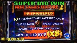 •SUPER BIG WIN !•Ming Warrior Slot machine/ Multiplied by 8 (x8) Bonus Games Special @ San Manuel •彡