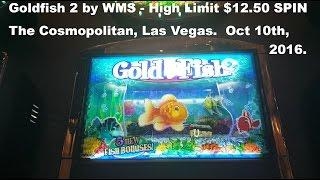 Goldfish 2 Live Play  High Limit $12.50 spin slot machine WMS The Cosmopolitan Las Vegas