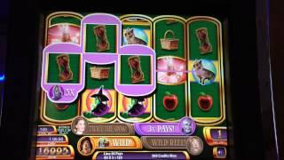 Wizard of Oz Ruby Slippers Slot Machine Bonus - Free Spins - BIG WIN!