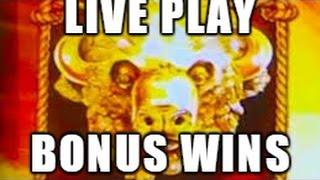 WHO DO I HAVE TO STAMPEDE AROUND HERE TO GET A HANDPAY? - Buffalo Gold Live Play with Bonus Wins