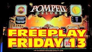 Pompeii Deluxe SLOT MACHINE BONUS&LIVE PLAY Freeplay Friday 13
