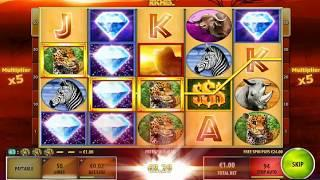 African Sunset slots  - 734 win!