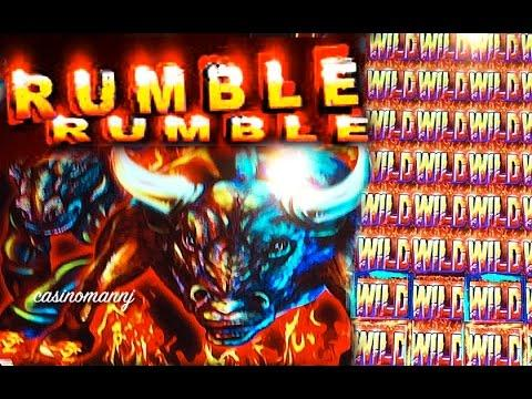 RUMBLE RUMBLE SLOT -MULTIPLE RETRIGGERS - *Nice Slot Win* - Slot Machine Bonus