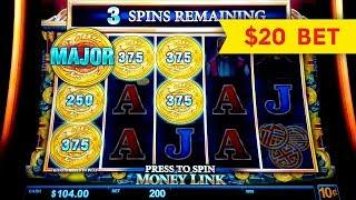 HIGH LIMIT ACTION! Money Link The Great Immortals Slot!
