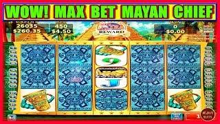 WOW! I PUT UP A FIGHT WITH MAYAN CHIEF | MAX BET | SLOT MACHINE