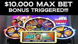 •10 GRAND MAX BET BONUS TRIGGER Big Bang Theory Nerd Video Slot Machine Jackpot Handpay | SiX Slot •