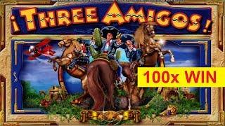 Three Amigos Slot - 100x BIG WIN - GREAT BONUS!