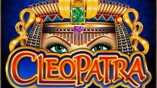 Cleopatra Slot Machine by IGT bonus free spins, BIG WIN and re-triggers