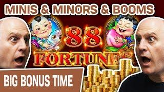 ⋆ Slots ⋆ MINIS and MINORS and BOOMS, Oh My! ⋆ Slots ⋆ $44 Spins Playing 88 Fortunes Slots