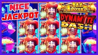 HIGH LIMIT All Aboard ⋆ Slots ⋆ Piggy Pennies & Dynamite Dash HANDPAY JACKPOT $25 Bonus Slot Machine