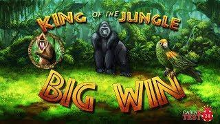 BIG WIN on King of the Jungle Slot (Bally Wulff) - 1,50€ BET!