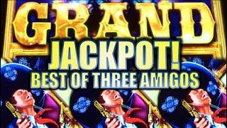 •GRAND JACKPOT!• THE BEST OF THREE AMIGOS Slot Machine Big Wins! (AINSWORTH)