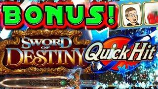 • BONUS TIME! •QUICK HIT SUPER WHEEL &  SWORD OF DESTINY • SG / BALLY • TREASURE ISLAND