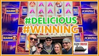 •DELICIOUS Line Hit WINS on Pompeii! #RUDIESLUCK • • Brian Christopher RUDIES Slot Cruise