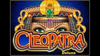 Cleopatra Deluxe Bonuses with lots of Re-triggers at Dusk Till Dawn Poker Club