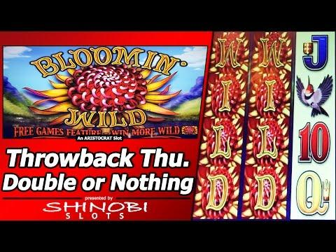 Bloomin Wild Slot - TBT Double or Nothing, Live Play and Free Spins Bonus