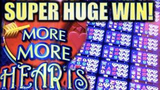 •SUPER HUGE WIN! ALL 24 GAMES UNLOCKED!!• MORE MORE HEARTS Slot Machine Bonus (Aristocrat)