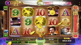 Tesla Spark of Genius slot - 1,665 win!
