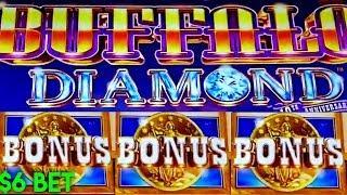 BUFFALO DIAMOND SLOT MACHINE | COINS! COINS! COINS • $6 MAX BET BONUS |