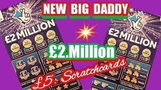 Fantastic Scratchcard Game...with NEW .£2.Million.£5 BIG DADDY's..Merry Millions.& More
