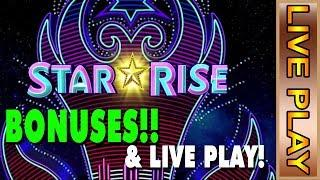 IGT STAR RISE BONUSES & LIVE PLAY - WILD PANDA GOLD - Slot Machine Live Casino Play