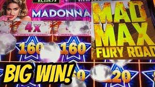BIG WIN & FIRST SPIN BONUS- MADONNA & MAD MAX FURY ROAD