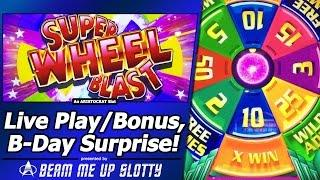 Super Wheel Blast, Miss Liberty Slot - Live Play, Bonus and B-Day Surprise!