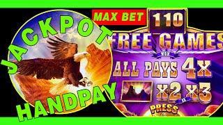⋆ Slots ⋆ AWESOME JACKPOT HANDPAY !! ⋆ Slots ⋆ BUFFALO DIAMOND ⋆ Slots ⋆ MAX BET 4x 110+  FREE SPINS