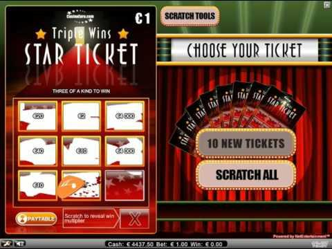 Star Ticket - scratch tickets