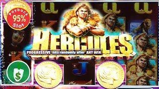 Hercules slot machine, 95% payback, bonus