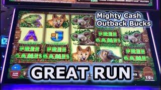 Great Run high limit Mighty Cash Outback Bucks