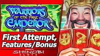 Warriors of the First Emperor Slot - Live Play, Random Features, Free Spins and Super Bonuses
