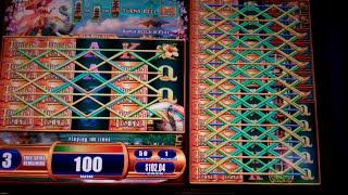 Towers of the Temple Slot Machine Bonus + Retrigger - Colossal Reels Feature - 13 Free Spins Win